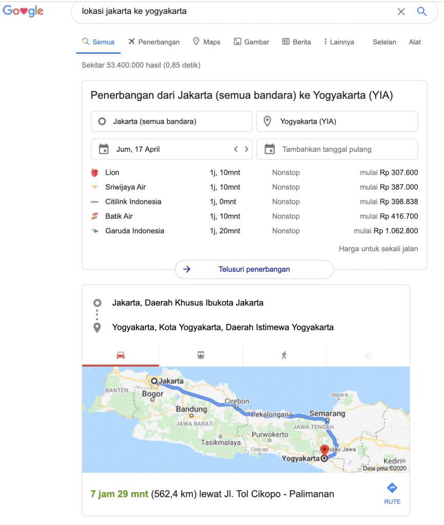 Informasi Perjalanan
