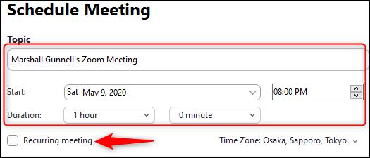 Recurring Meeting