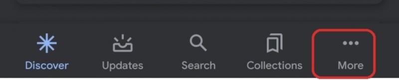 """Ketuk tombol """"More"""" tiga titik pada bagian kanan bawah"""