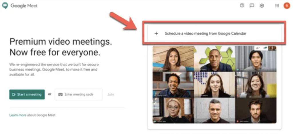 Jadwalkan rapat video dari tombol Kalender