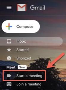 Mulai rapat lewat Gmail