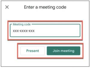 Masukkan kode rapat