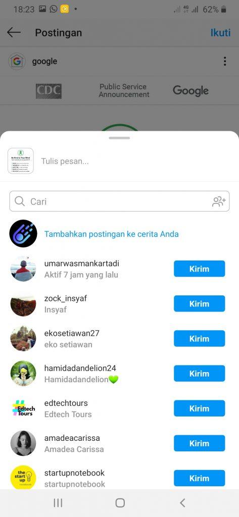 Cara repost feed Instagram ke Story2