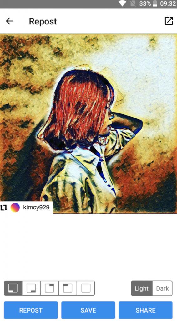 Repost feed di Instagram2