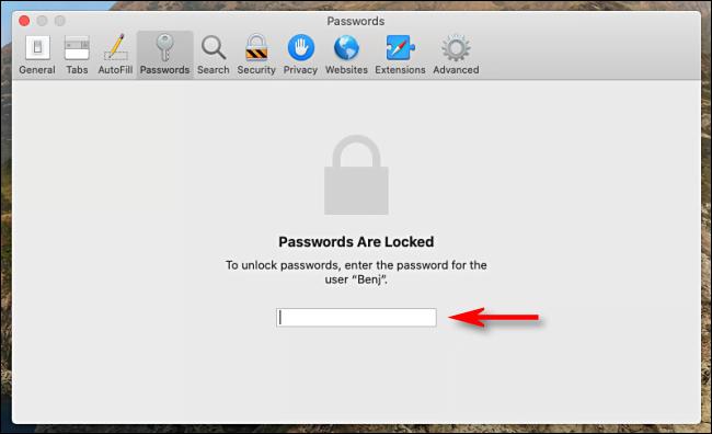 Passwords Are Locked