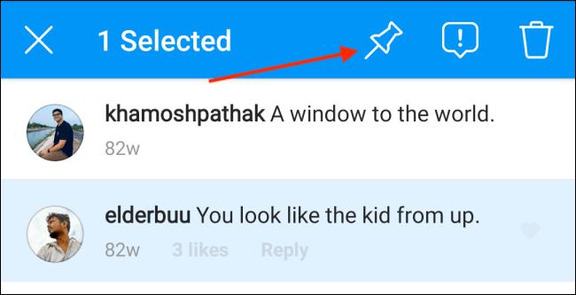 Cara Pin Komentar Instagram di Android 3