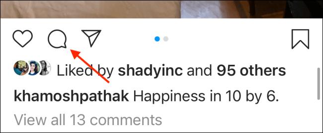 Cara Pin Komentar Instagram di iPhone 1