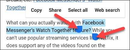 3. Cara Copy Paste Teks Link dan Foto di Android