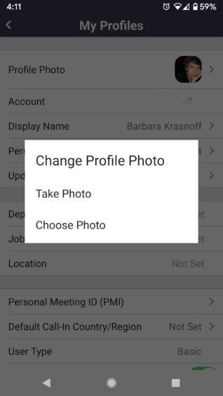 3 Mengubah nama profil Anda di Zoom