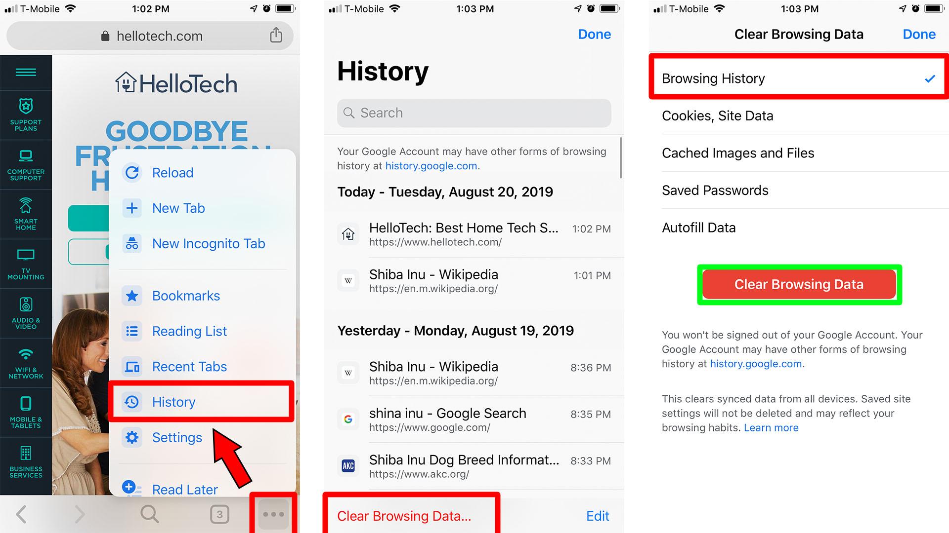 4. Cara Menghapus Semua Riwayat Pencarian di Chrome