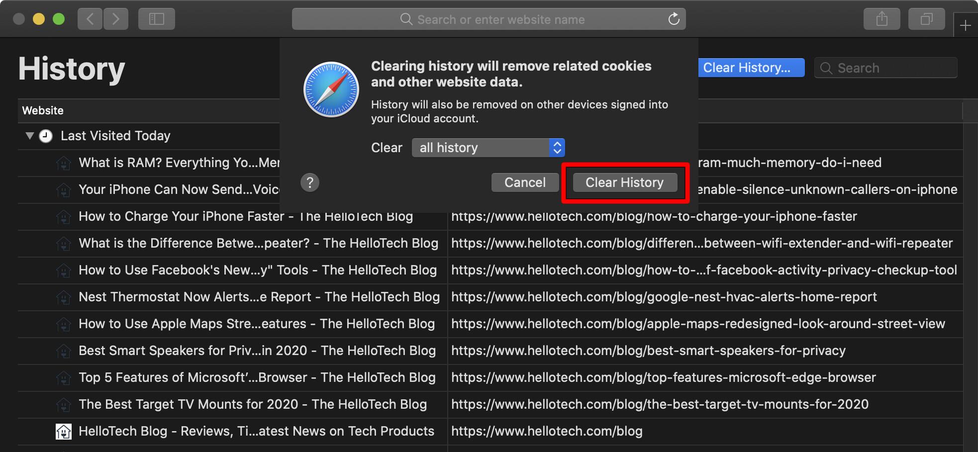 8. Cara Menghapus Riwayat Pencarian di Chrome Safari Firefox dan Edge