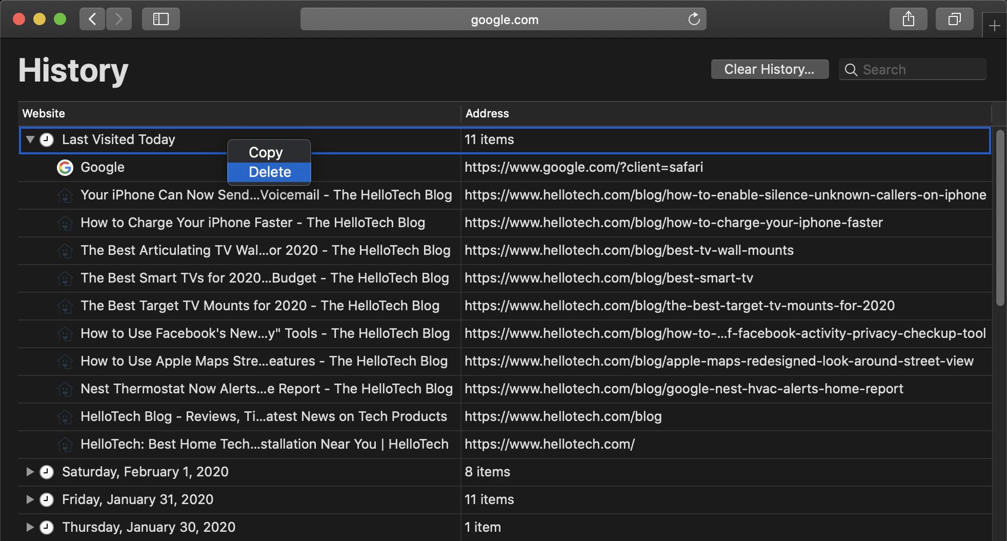 9. Cara Menghapus Riwayat Pencarian di Chrome Safari Firefox dan Edge