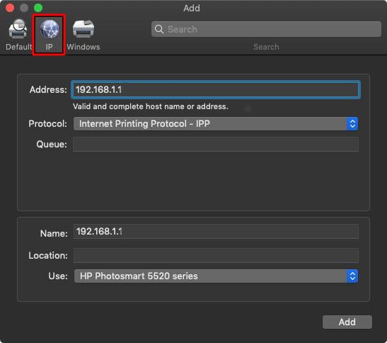 Cara Menambahkan Printer melalui Alamat IP