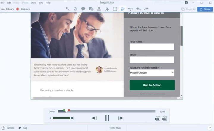 17. Cara Screen Record di Mac Menggunakan Snagit