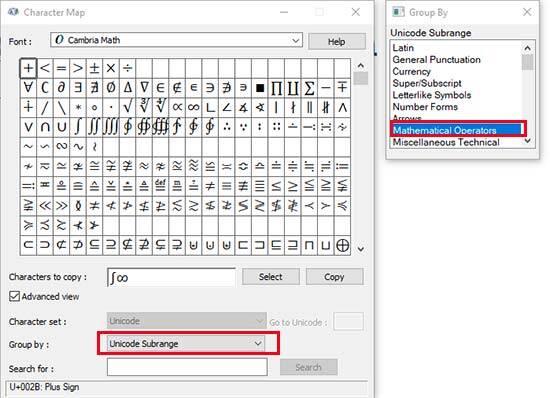 3. Menambahkan Karakter Matematika Unicode di Windows