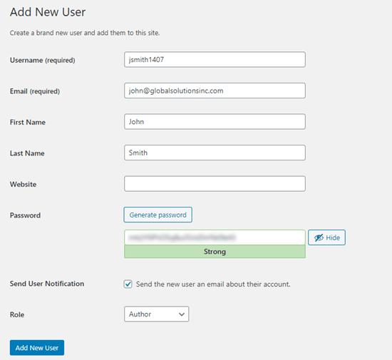 3. Menambahkan User dan Author Baru di WordPress Secara Manual