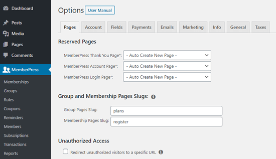 7. Membuat akun membership berbayar