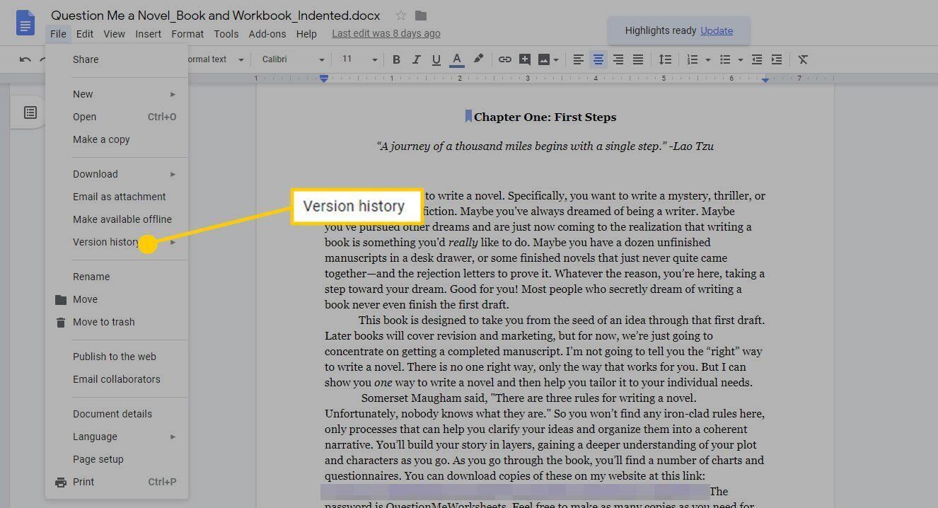 Cara Mengelola Riwayat Revisi Google Docs