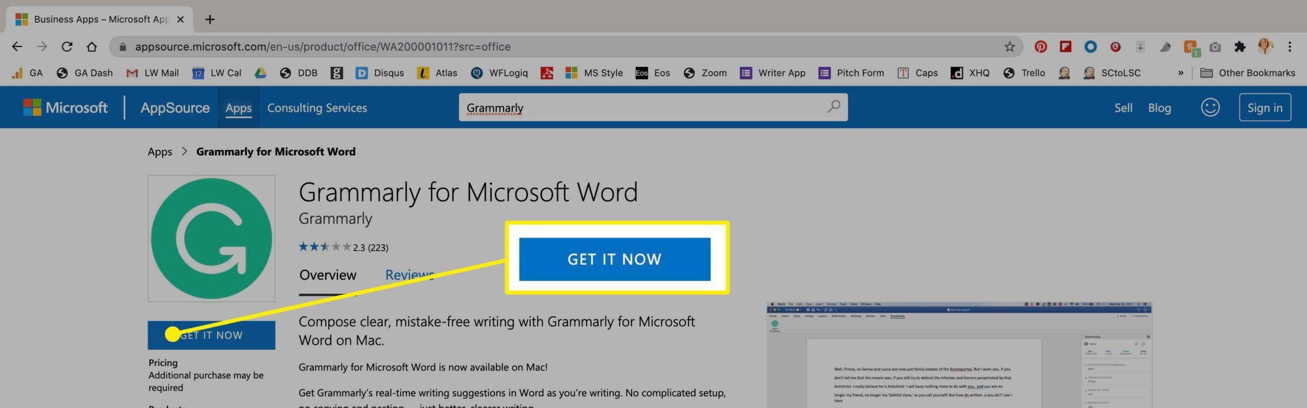 9. Cara Memasang Grammarly di Word pada MACOS scaled