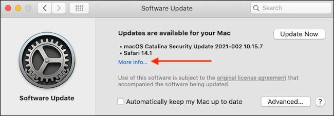 3. Cara Update Safari di MacBook