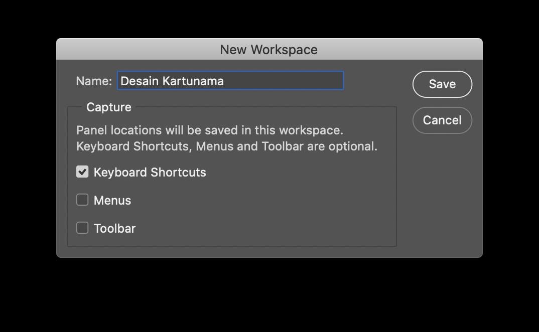 Workspace Photoshop