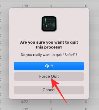 7. Cara Force Quit Safari di Mac