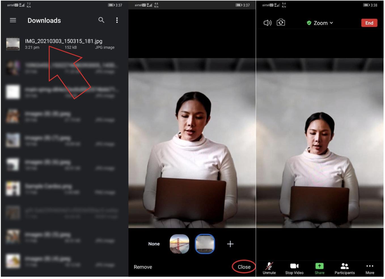 Cara Blur Background Zoom di HP Android dan iOS