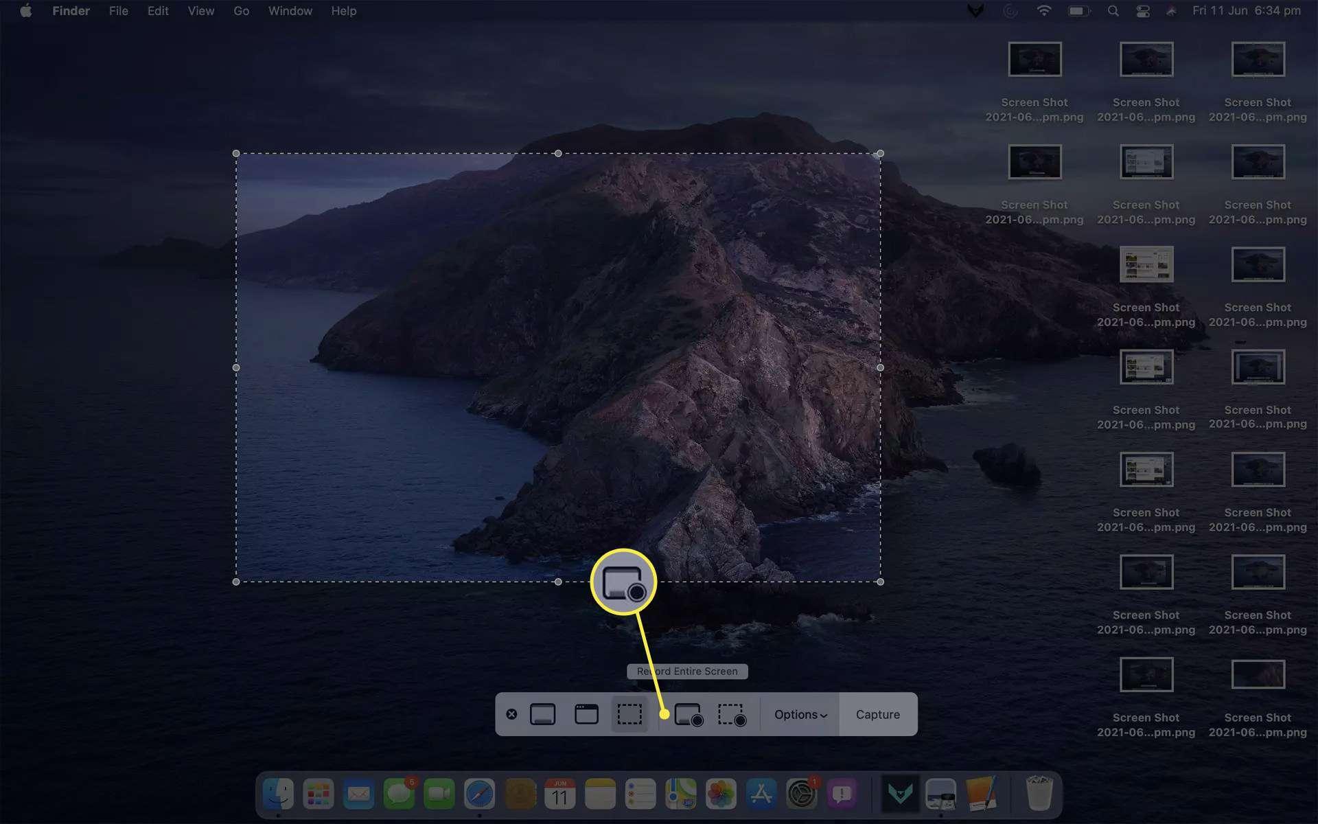 9. Cara Screenshot di MacBook Air