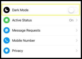 11. Cara Mengaktifkan Dark Mode Facebook