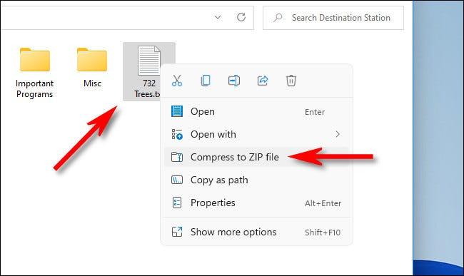 Cara Zip File di Laptop Windows 11