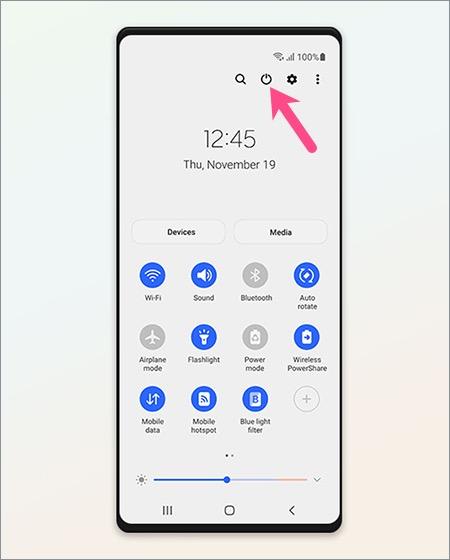3. Cara Mematikan Samsung A52 Restart Samsung A52