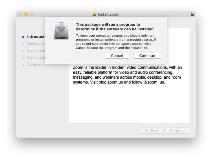 7. Cara Install Zoom di MacBook
