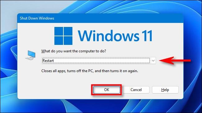 Cara Restart Windows 11